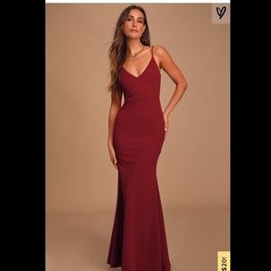 Lulu's Infinite Glory Dress (Wine)